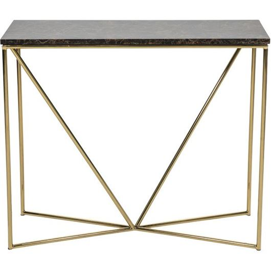 Picture of FAKO console 90x35 brown/gold