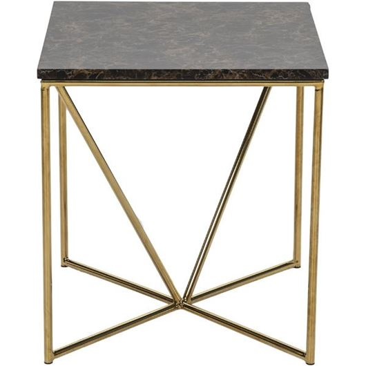 Picture of FAKO side table 50x50 brown/gold