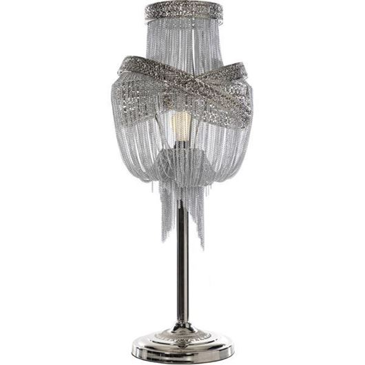 Picture of ALOM table lamp h86cm silver