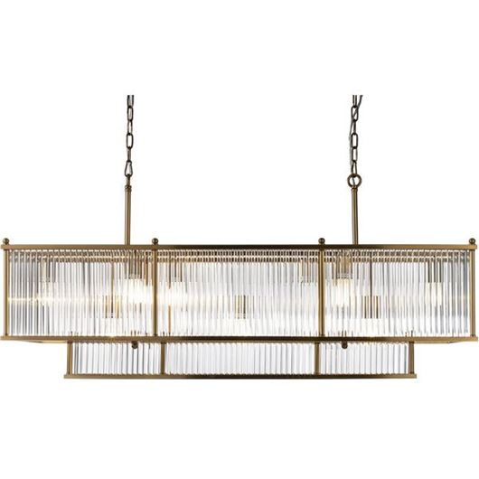 Picture of DANE chandelier 125x38 clear/brass
