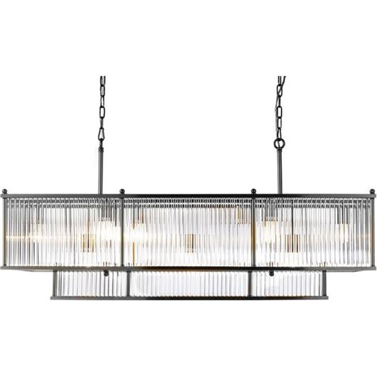 Picture of DANE chandelier 125x38 clear/stainless steel