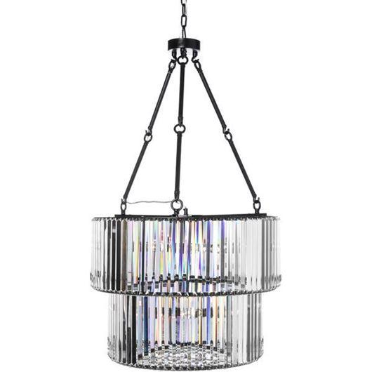 Picture of BLAIS pendant lamp d67cm clear/black