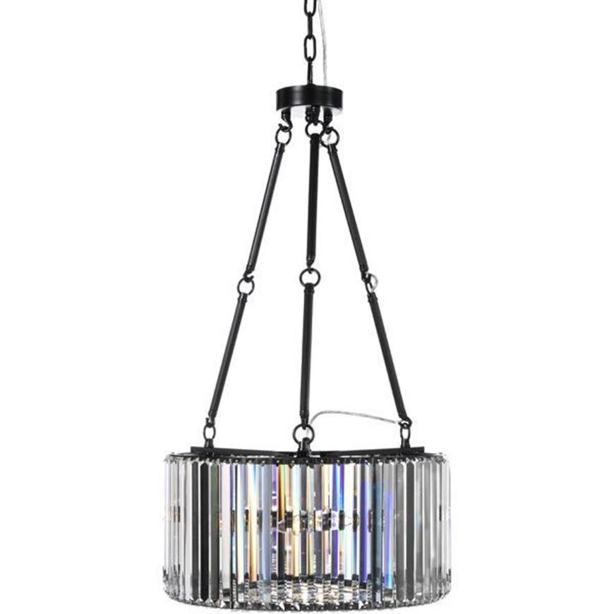 Picture of BLAIS pendant lamp d50cm clear/black
