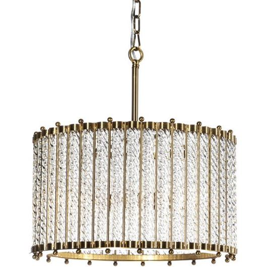 Picture of TUBE pendant lamp d50x132cm clear/brass