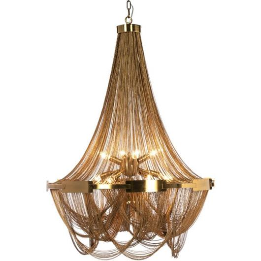 Picture of KATINA chandelier d80cm brass
