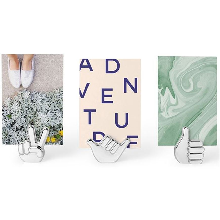 Picture of HANDSUP photo holder set of 3 stainless steel