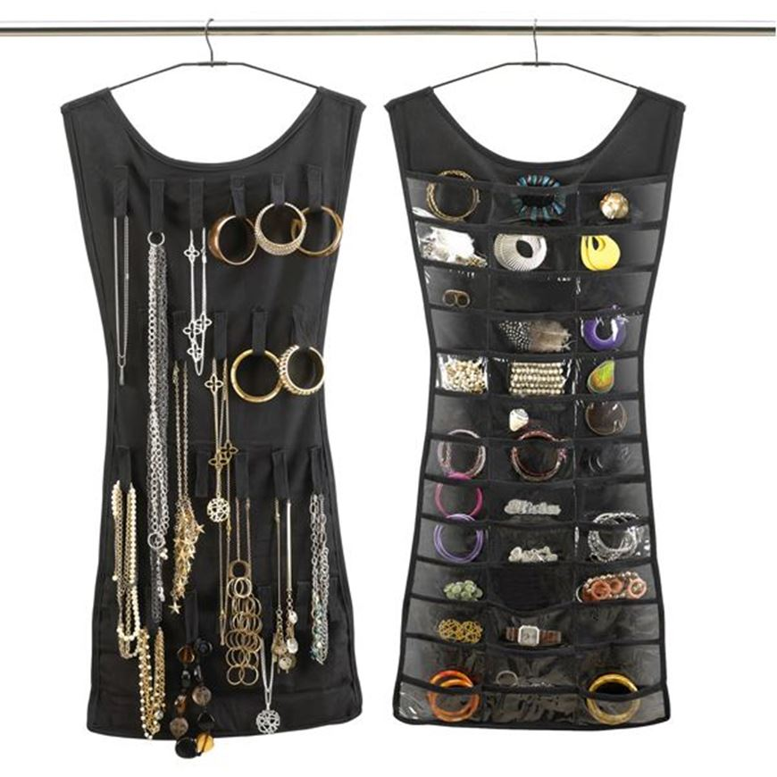 Picture of BLACK dress jewellery holder black