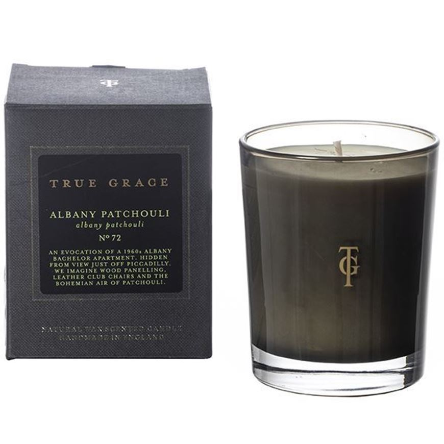 ALBANY & PATCHOULI candle small black