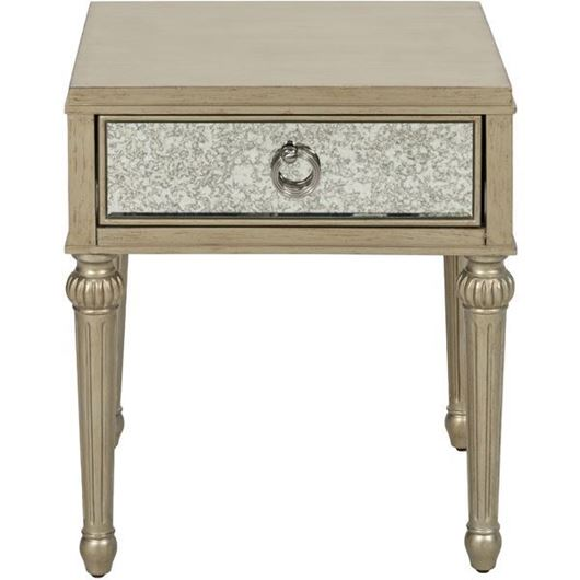 Picture of MIA side table 51x45 gold/grey