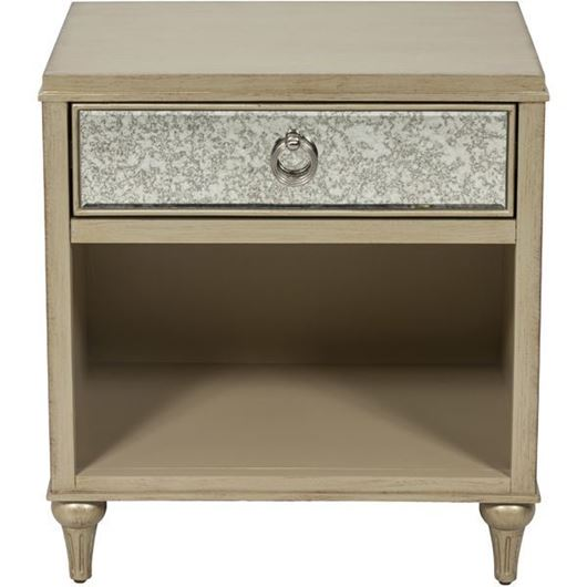 Picture of MIA bedside table gold/grey