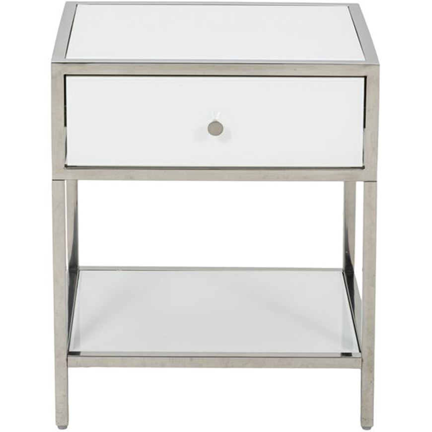Picture of FOPP bedside table white/stainless steel