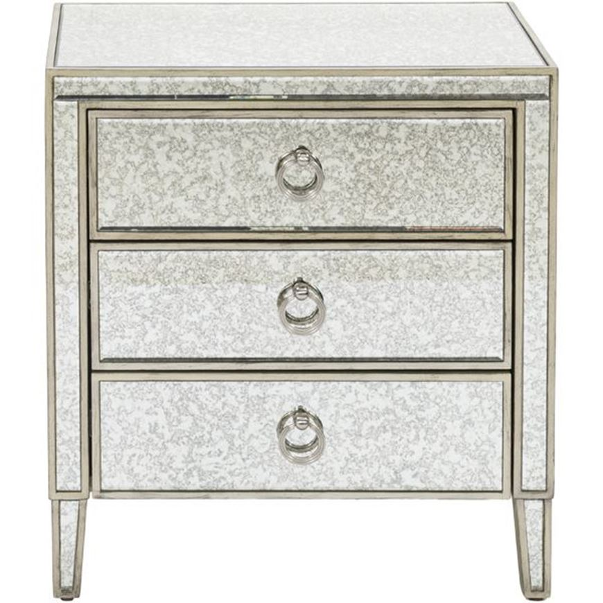 Picture of AVA bedside table grey/gold
