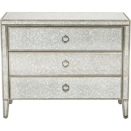 Picture of AVA chest 3 drawers grey/gold