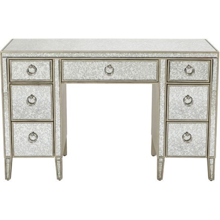 Picture of AVA dressing table 127x50 grey/gold