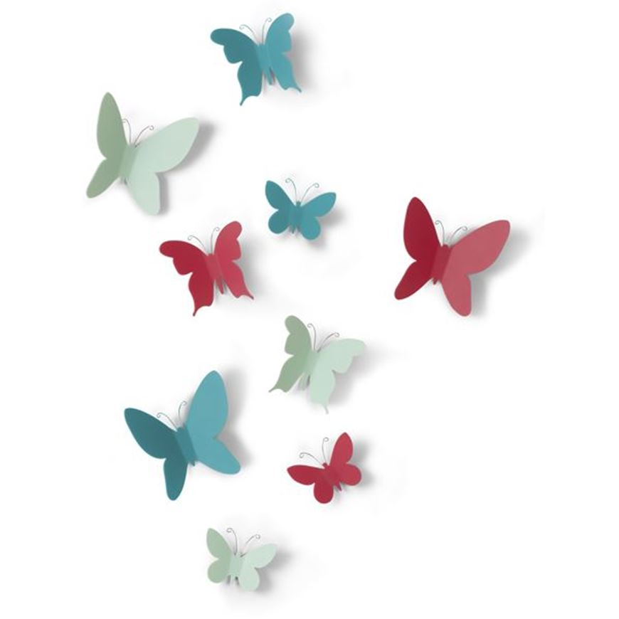 Picture of MARIPOSA wall decoration set of 9 assorted