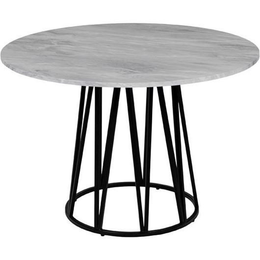 Picture of ALYSON dining table d110cm white/black