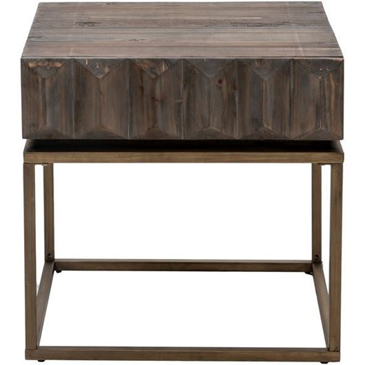 Picture of VIVAL side table 61x60 brown/gold