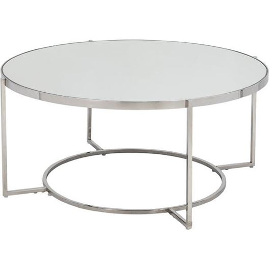 Picture of ALICE coffee table d103cm clear/stainless steel
