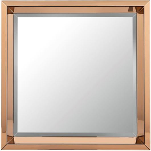 Picture of COFFEE mirror 100x100 brown