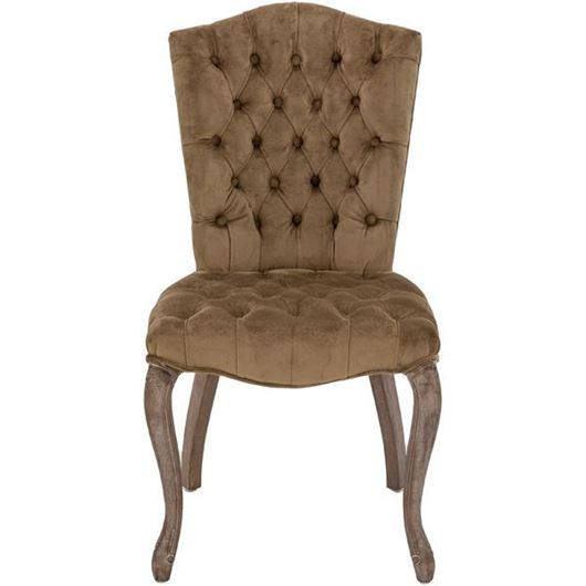 Picture of RAFEL dining chair microfibre light brown/grey