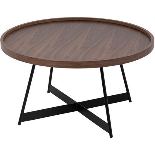 Picture of DUBLIN coffee table d80cm brown/black
