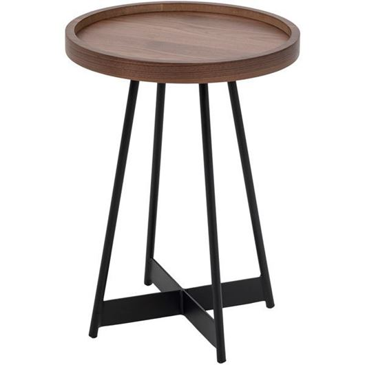 Picture of DUBLIN side table d40cm brown/black