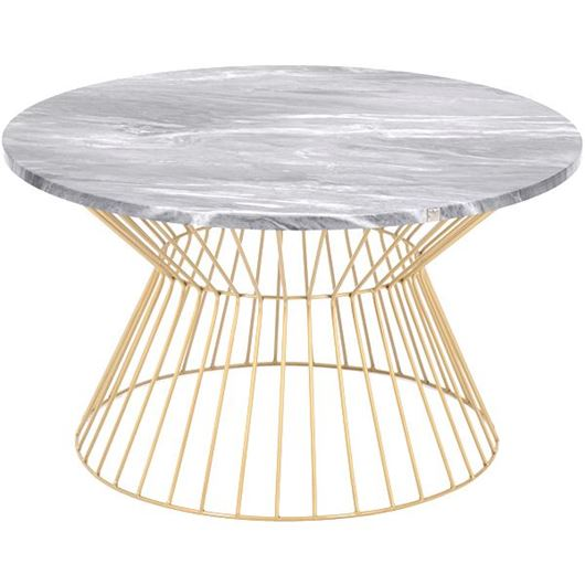 Picture of FABINO coffee table d80cm black/gold