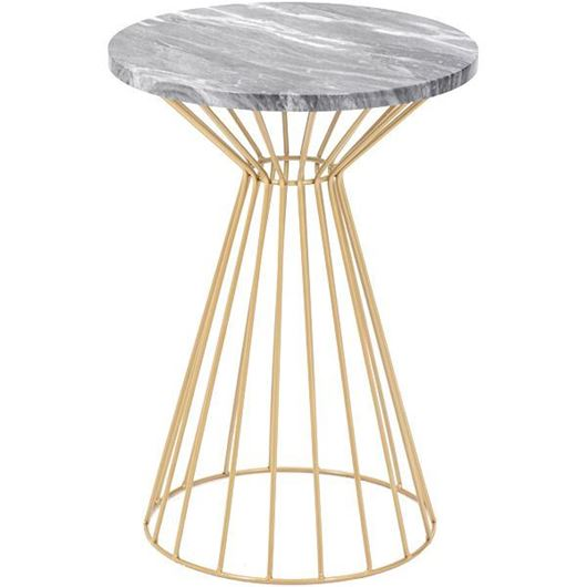 Picture of FABINO side table d40cm black/gold