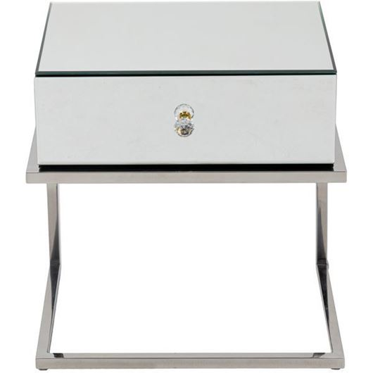 Picture of LUCA bedside table clear/stainless steel
