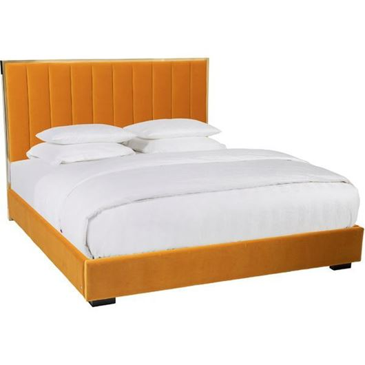 Picture of LAURA bed 180x200 microfibre yellow