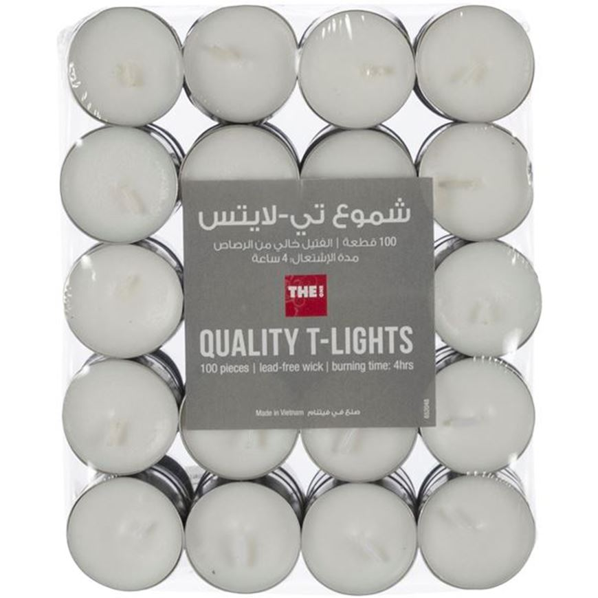 Picture of QUALITY tea light pack set of 100 white