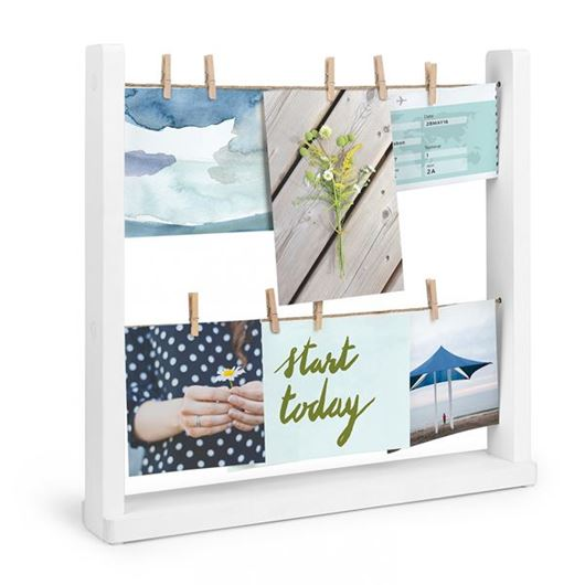 Picture of HANGIT desk photo holder white