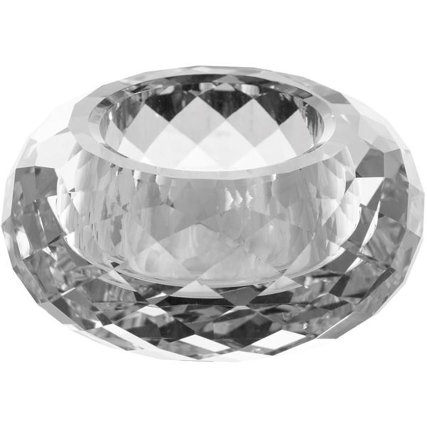 Picture of NYLE tea light holder d8cm clear