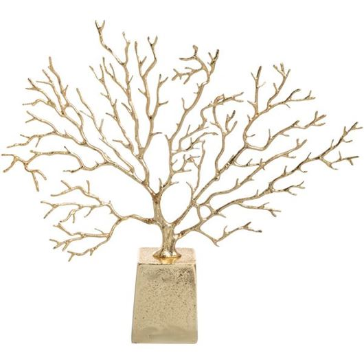 Picture of ZUMA tree decoration h39cm gold