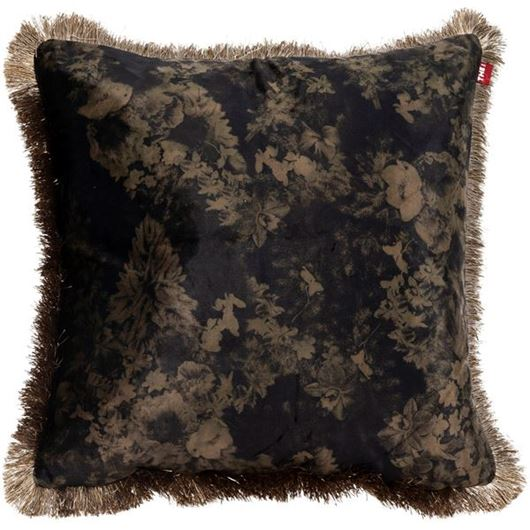 Picture of FLORA cushion cover 45x45 green/black