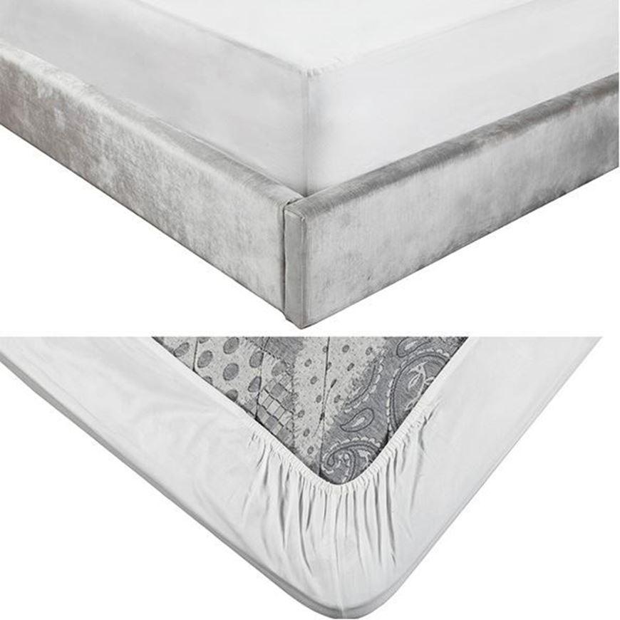 ALIA fitted sheet 120x200+39 white