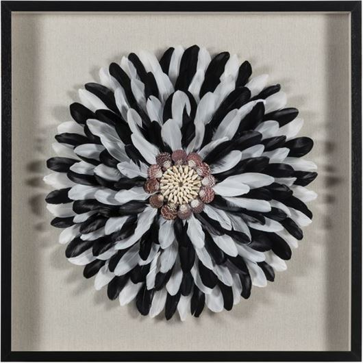 Picture of ARIA wall decoration 90x90 black