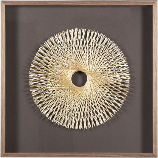 Picture of CURTIS wall decoration 90x90 brown