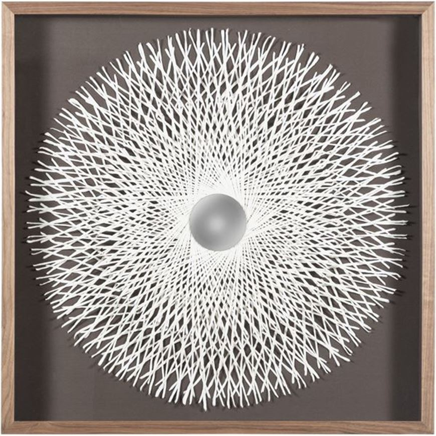 Picture of SALLY wall decoration 90x90 brown