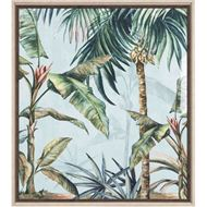 LUSHED Palms print 75x84 brown