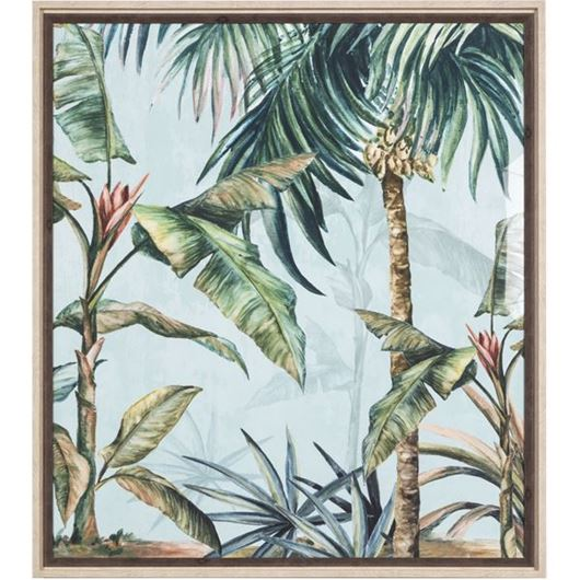 Picture of LUSHED Palms print 75x84 brown