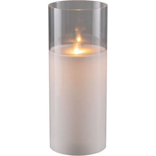 Picture of AURA flameless candle 10x25 white