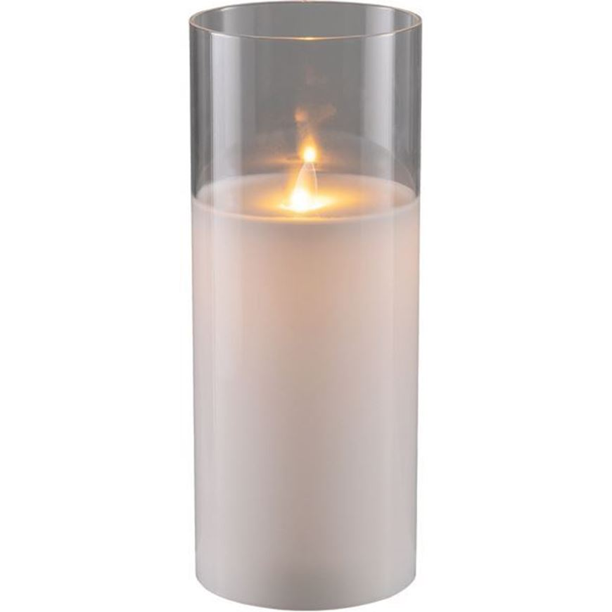 AURA flameless candle 10x25 white