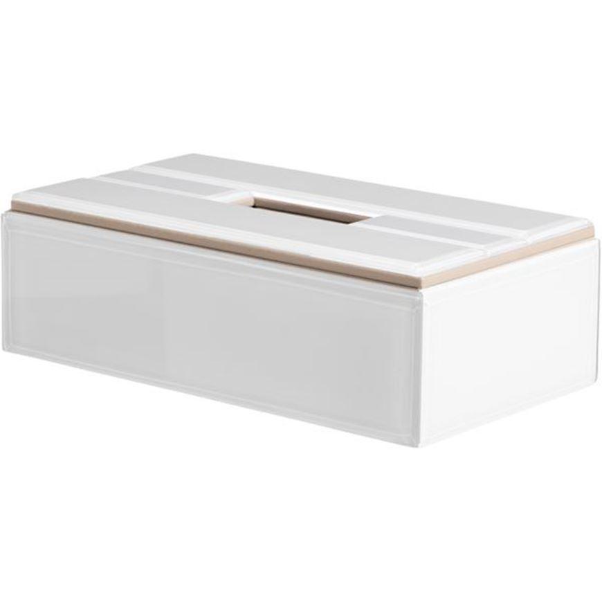 Picture of BLANC tissue box 13x26 white