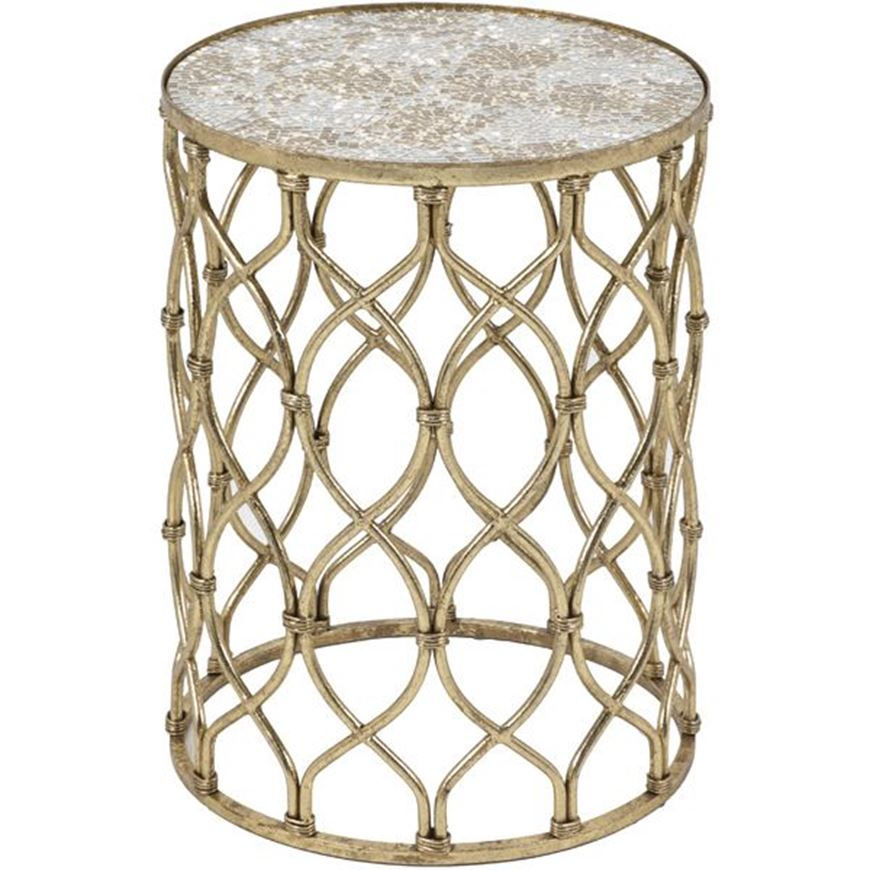 JUSTO side table d41cm gold