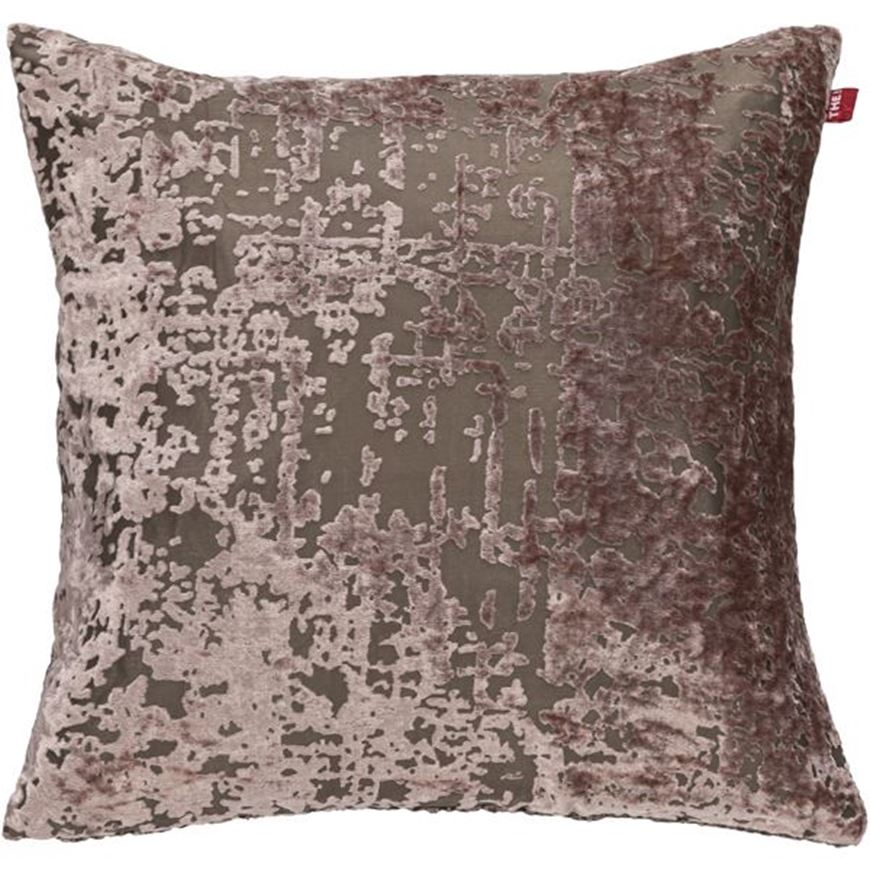 Picture of DHARA cushion cover 45x45 pink/taupe