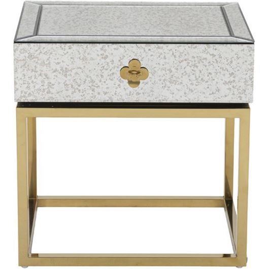 Picture of LOEN bedside table clear/gold