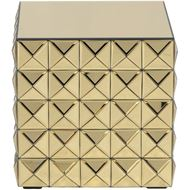 KINZ side table 43x43 gold
