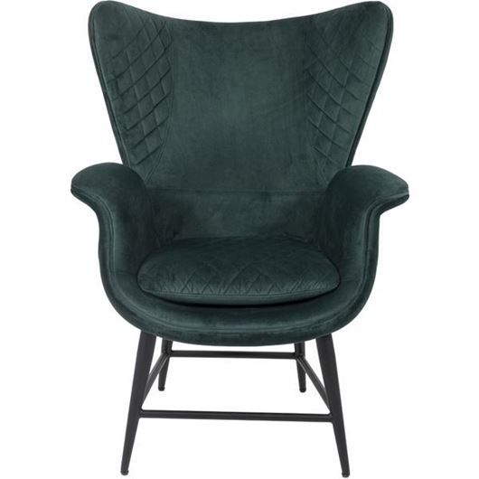 Picture of EON wing chair microfibre green