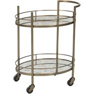 ROSETTA trolley 66x46 clear/brass
